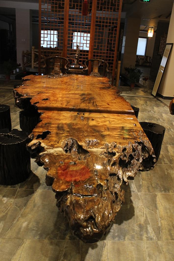 金丝楠树根茶台06 - 茶台 - 金丝楠乌木,金丝楠木家具